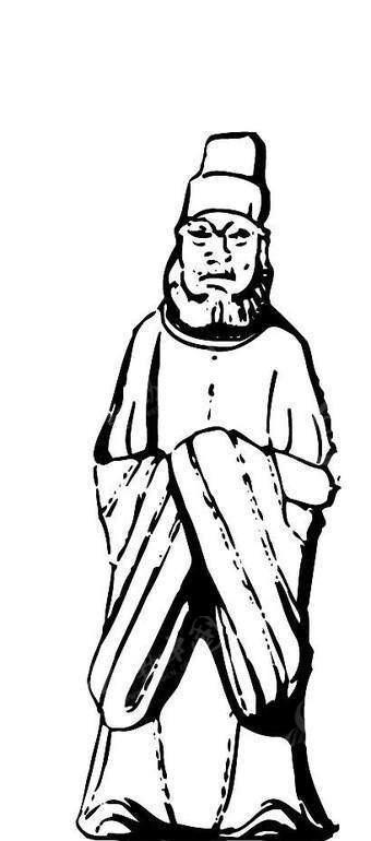 古代人物雕塑矢量素材