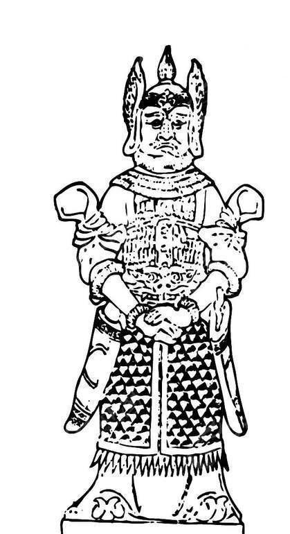 古代人物黑白雕塑矢量素材