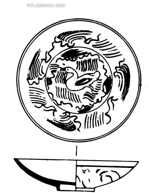 手绘陶瓷碗剖面图ai素材免费下载(编号1473311)_红动网