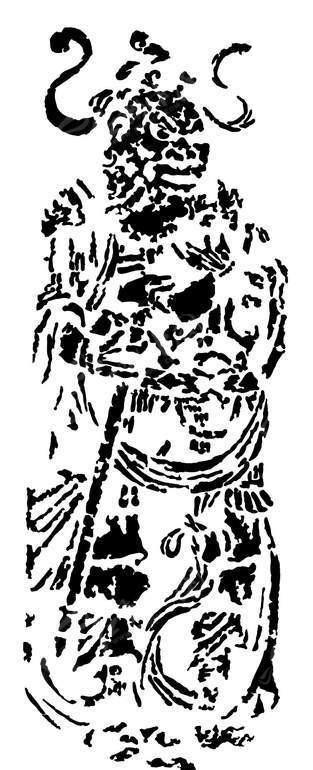 古代人物壁画矢量素材