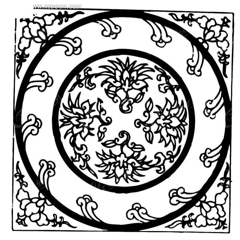 精美植物底纹装饰设计模板