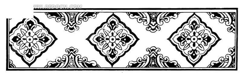 简单黑白花卉图案AI素材免费下载 编号1474481 红动网