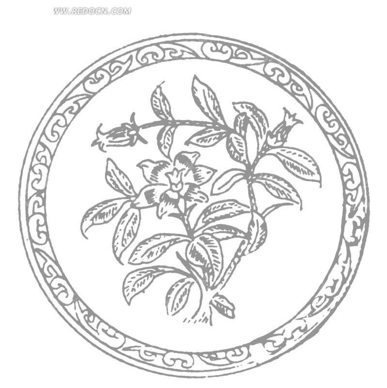 圆形贴纸图案简洁名片 圆形传统装饰花图案封面 圆形地球图案创意logo图片