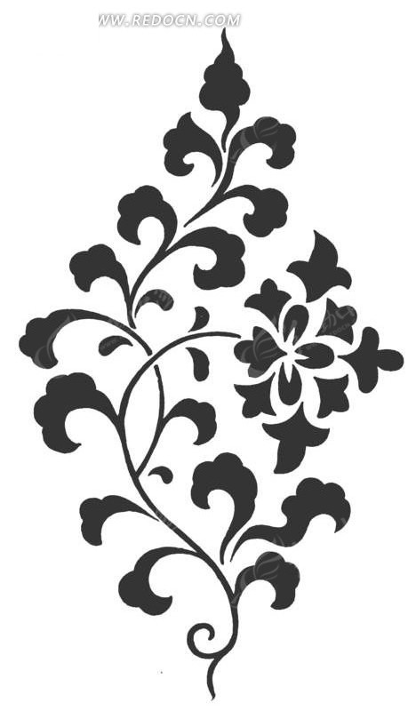 手绘花朵植物插画图案