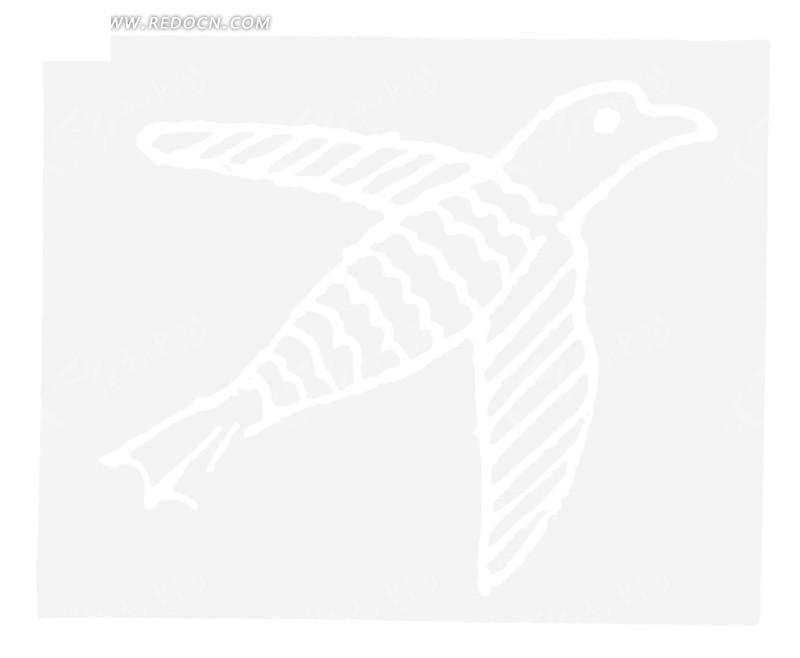 黑白图案 波纹 横条纹 燕子 动物 动物图案 矢量素材 传统图案