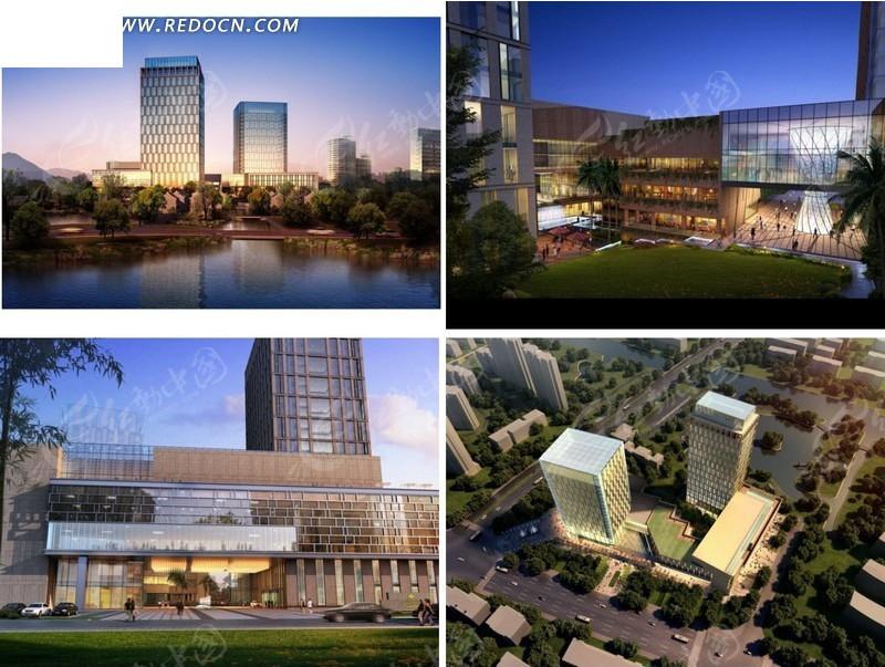 商业建筑群3d效果图设计