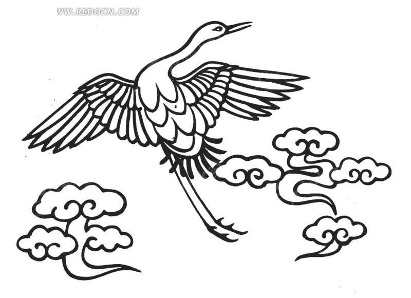 展翅高飞的鸟 天空展翅飞翔的鸟