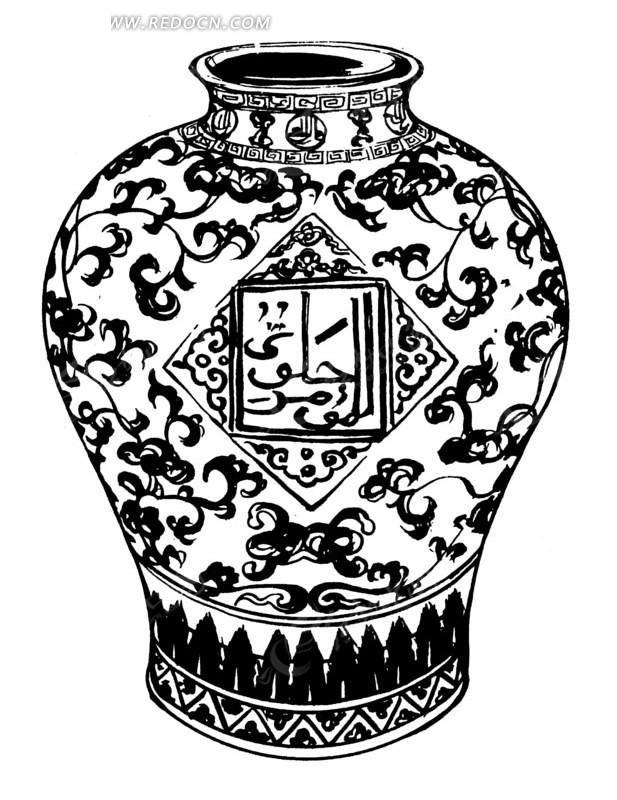 中国传统花瓶失量图