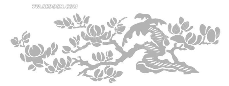 手绘会的树枝叶子插画图形