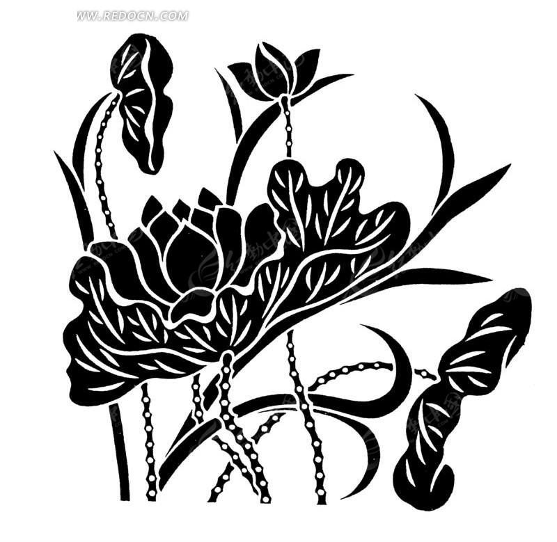 意境植物黑白装饰画