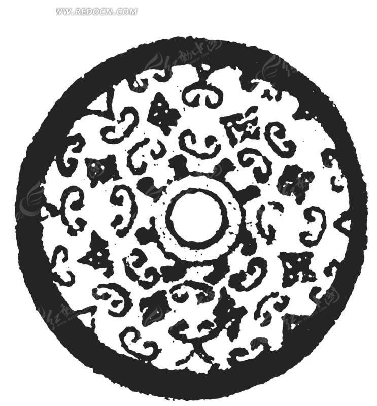 中国花纹图案古钱币图片