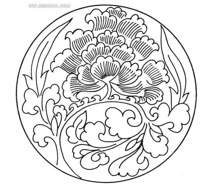 免费素材 矢量素材 艺术文化 传统图案 圆形花卉花纹图片