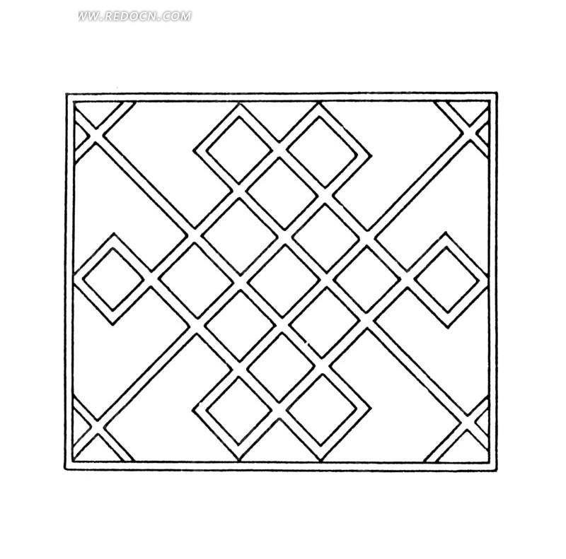中国古典图案-菱形构成的图案图片