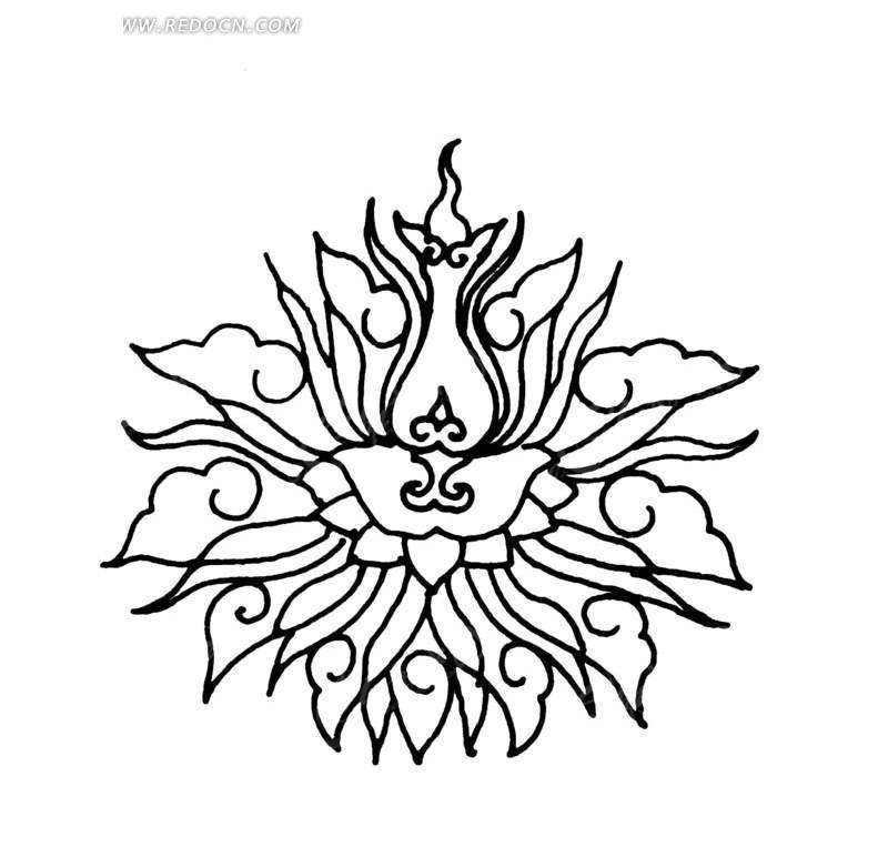 蓮花圖案傳統紋樣