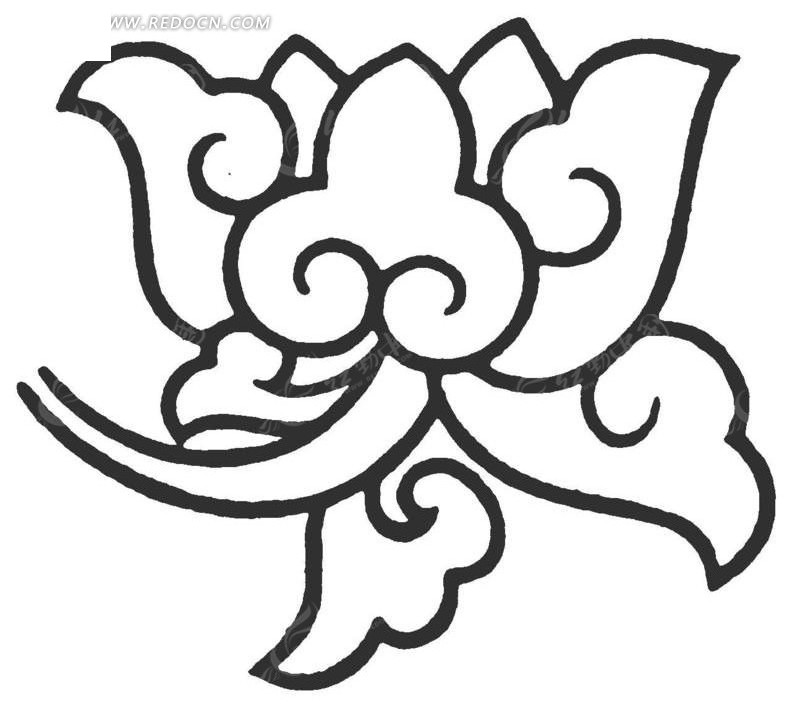 莲花花瓣线稿