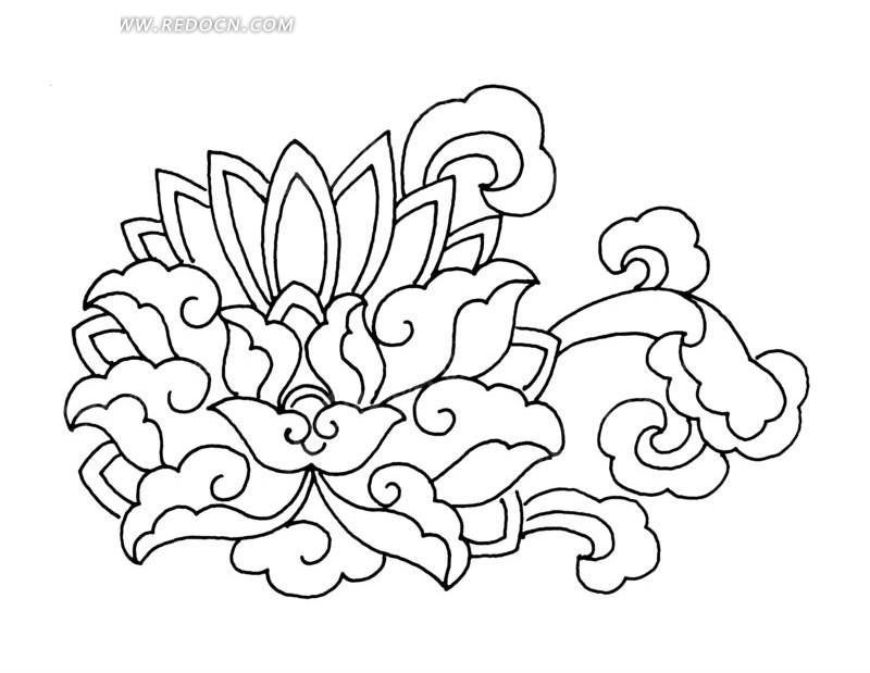 荷花风中国小学朝阳区入学纹样图片