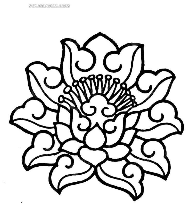 及 吉祥寓意的荷花纹样  请您分享: 素材描述:红动网提供传统图案图片