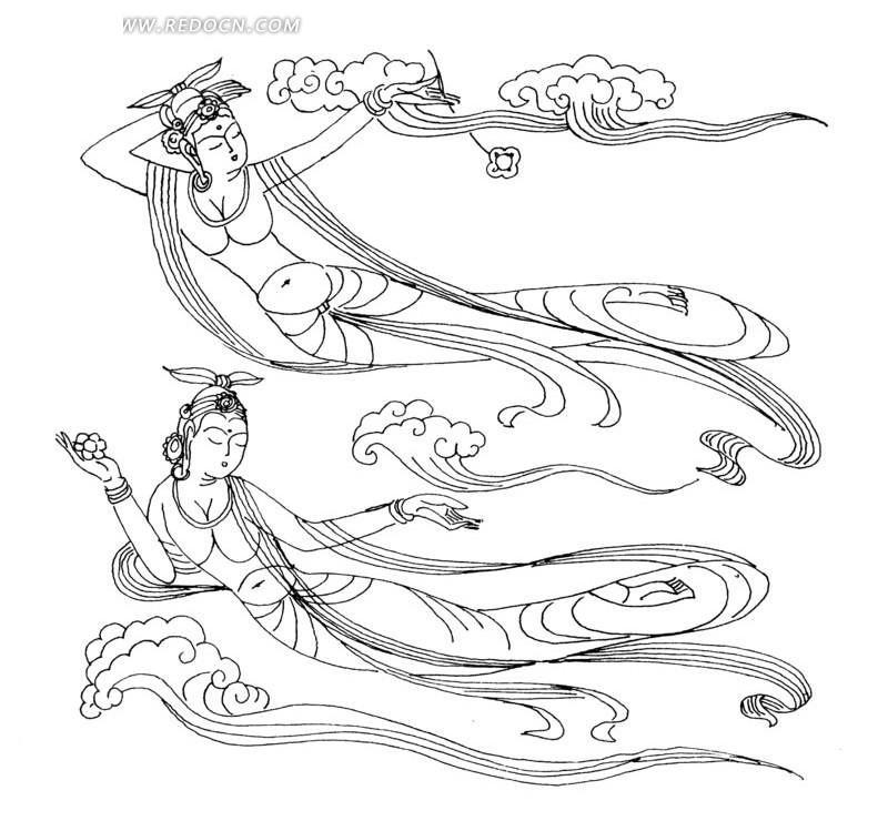 古装仙女手绘插画