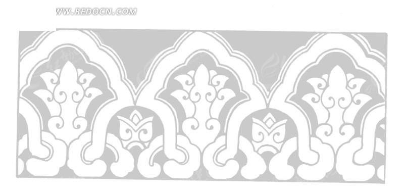 中国传统花纹边框
