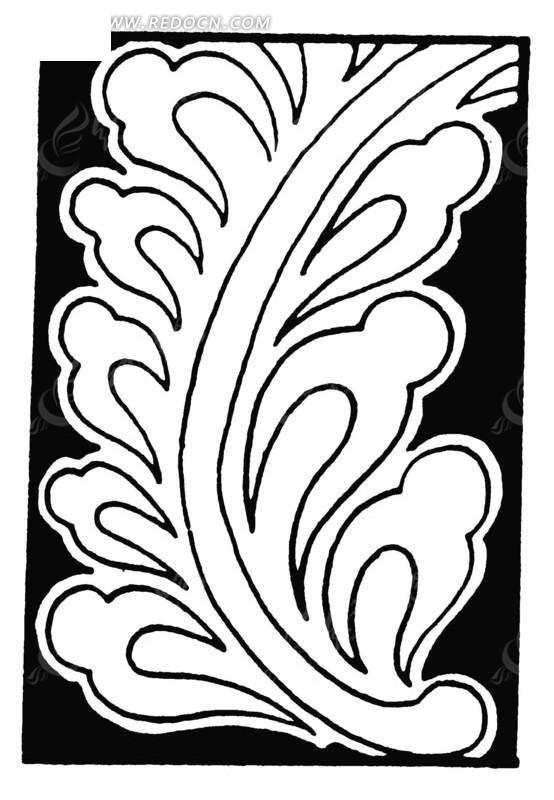 清代 中国古图案; 手绘祥纹叶蔓; 手绘祥纹     中国古典