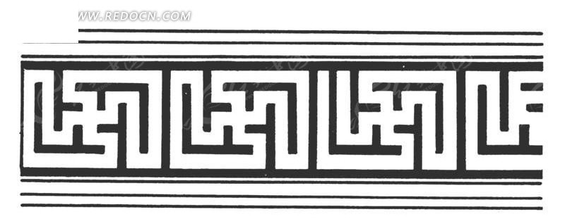 中国古典图案-卍字纹构成的花边图片