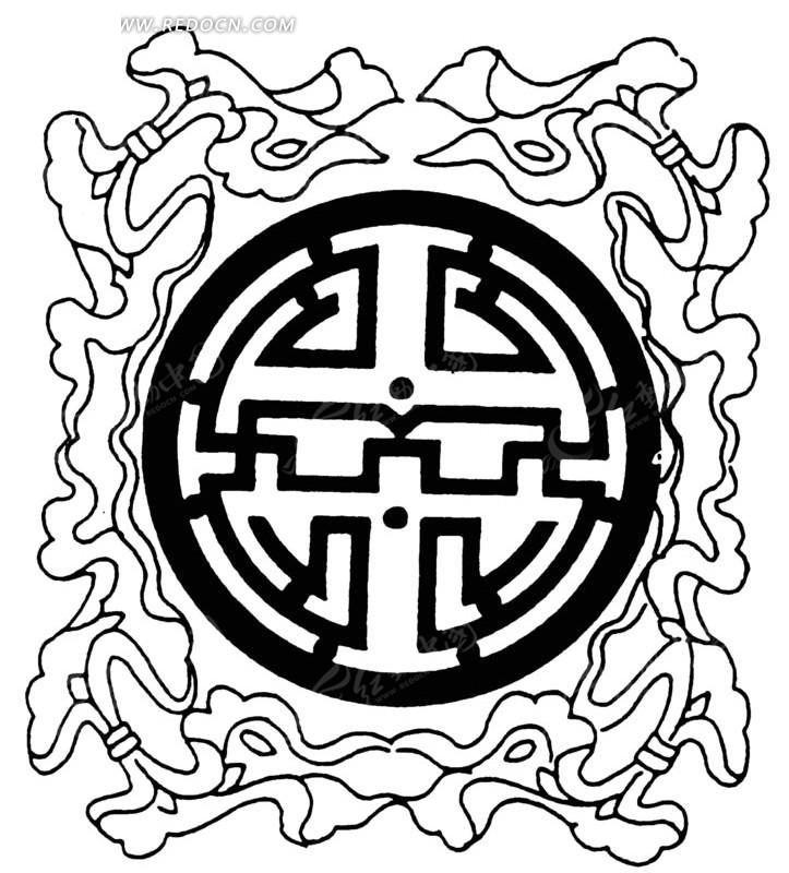 中国古典图案-图案和不规则形属于的文字设计素材构成什么类目图片