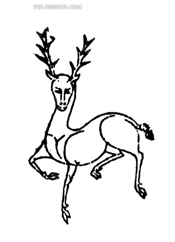 鹿的画法步骤简单
