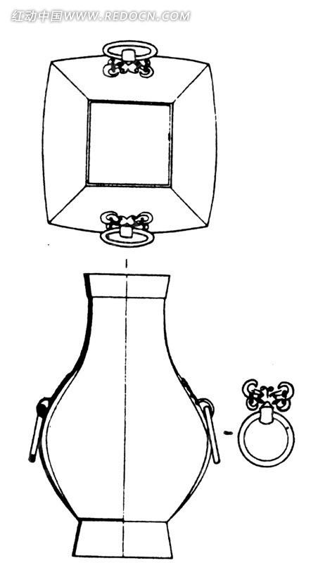 中国古代器物-瓶子状古物上的双环