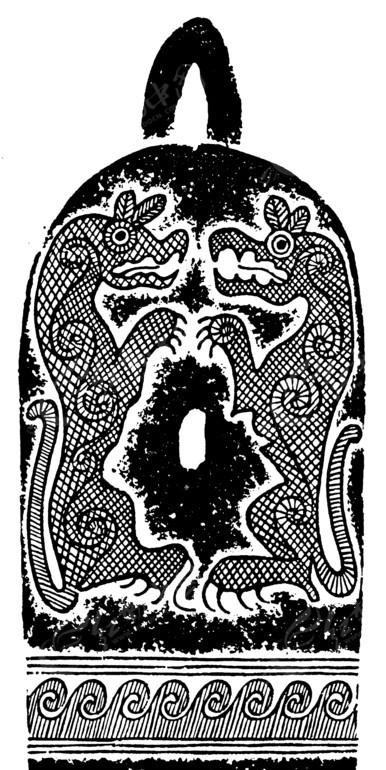 免费素材 矢量素材 艺术文化 传统图案 中国古典图案-动物和卷曲纹