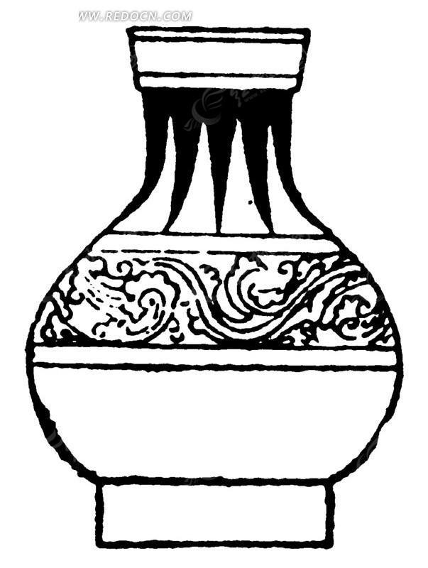 手绘陶瓷花瓶AI素材免费下载 编号1498613 红动网