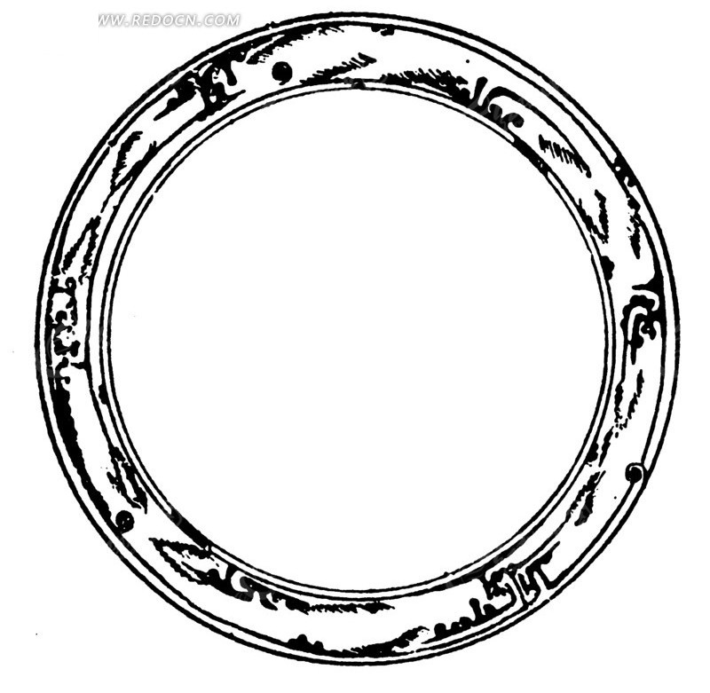 中国古典图案-斑痕纹圆环构成的环形图案