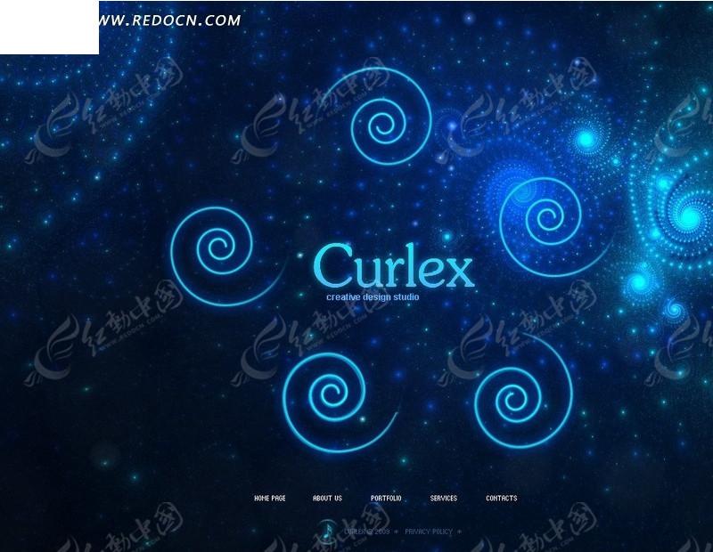 curlex创新设计公司网页模板