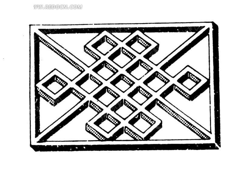 菱形组成的立体方块