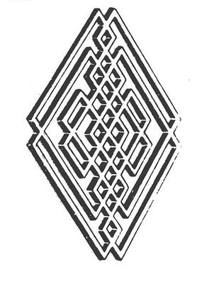 中国古典图案-线条构成中国结形图案
