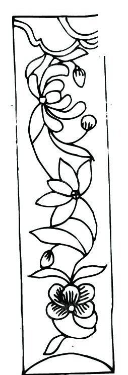 手绘创意花朵曲线