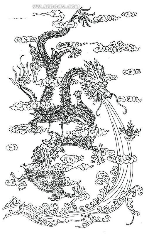 飞龙各部分手绘图