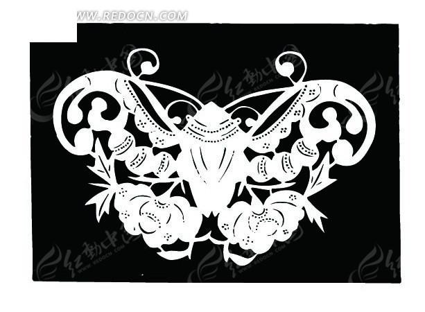 色背景上的蝴蝶对称剪纸图AI素材免费下载 编号1495055 红动网