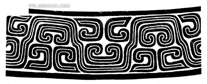中国古典图案-线条构成的拙朴的图案