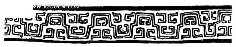 中国古典图案-线条构成的花边