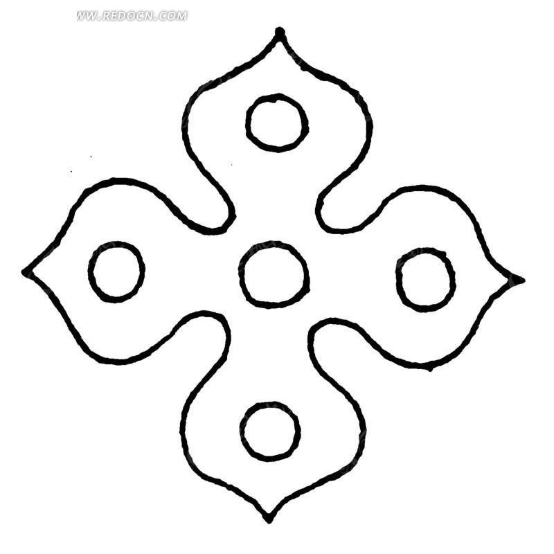 免费素材 矢量素材 艺术文化 传统图案 矢量四角形花纹图形  请您分享