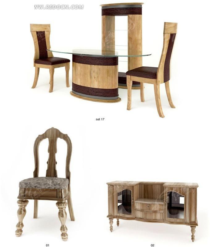 一套精致欧式家具3dmax模型图片