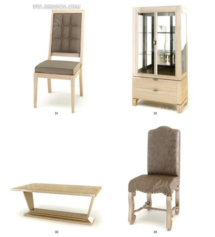 高贵大气木质家具设计3d效果图图片高清图片
