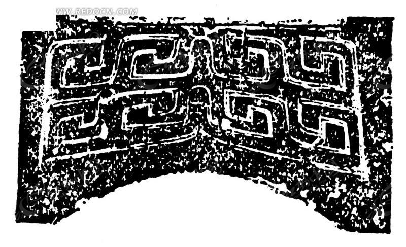 菱形 乳钉纹 环纹 斑驳  云边菱形动物纹折枝花纹 朱雀纹卷曲纹构成的