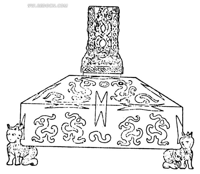 中国古代器物-扛着重物的动物