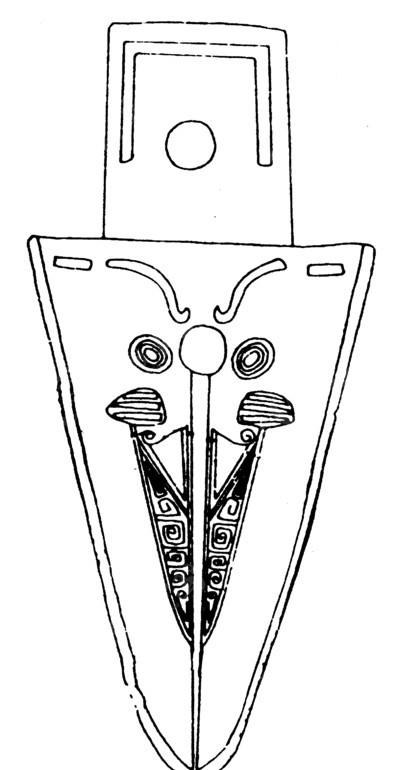 中国古代器物-剑上的斑驳的卷曲纹图片
