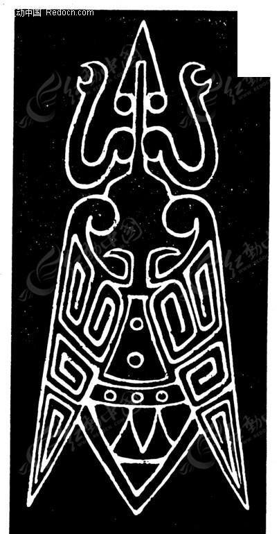 中国古典图案-回纹装饰的动物图案
