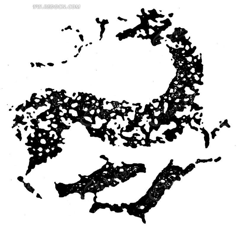 动物图案;; 春秋战国图案; 中国古典图案-鹿纹鱼纹构成的斑驳圆形图案
