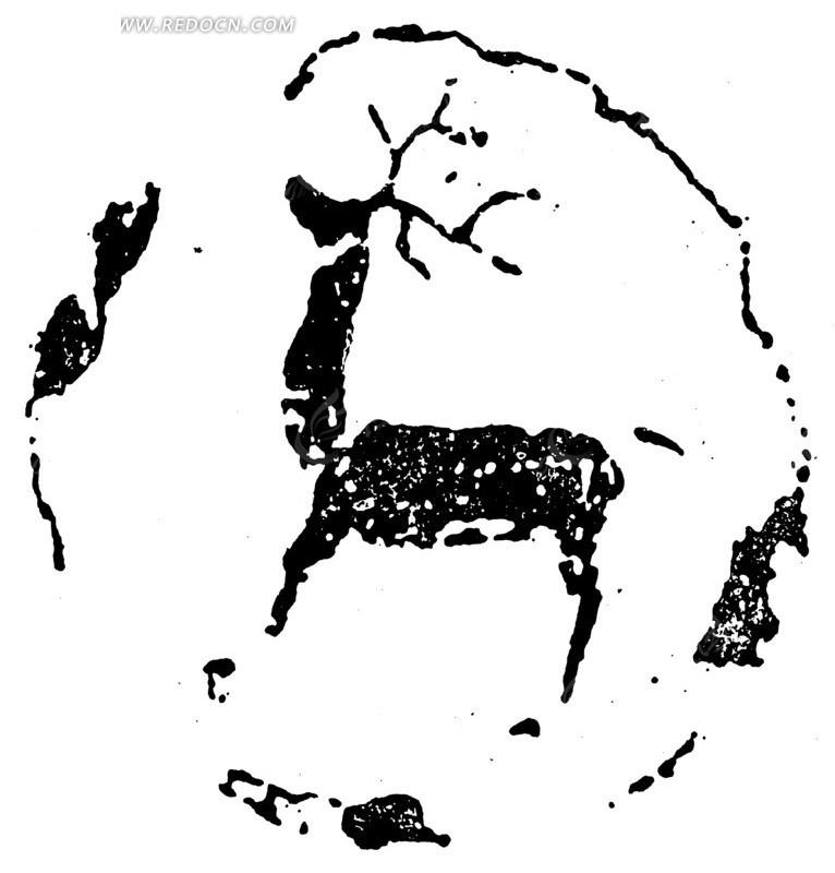 免费素材 矢量素材 艺术文化 传统图案 > 中国古典图案-长角鹿纹构成