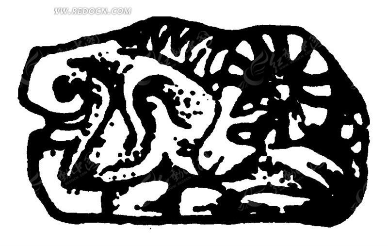 趴卧的羊形雕刻图案方案名字室内设计纹理自然作品图片
