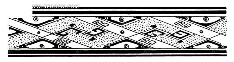 古代方形花纹边框图片